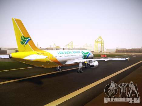 Airbus A320 Cebu Pacific Air для GTA San Andreas вид сбоку