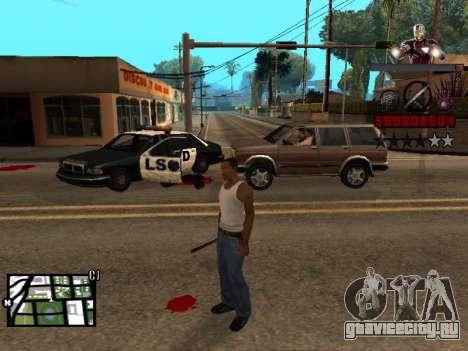 C-HUD Железный человек для GTA San Andreas второй скриншот