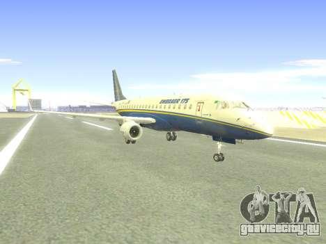 Embraer 175 HOUSE для GTA San Andreas вид сзади слева