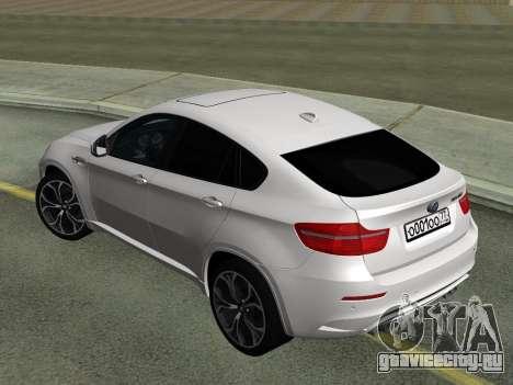 BMW X6M 2010 для GTA San Andreas вид справа