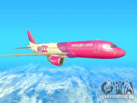 Airbus A320-200 WizzAir для GTA San Andreas