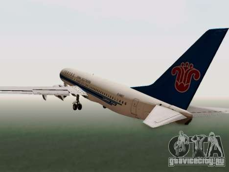 China Southern Airlines Boeing 737-800 для GTA San Andreas вид изнутри