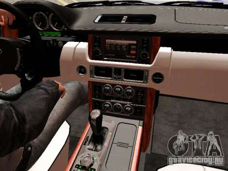Land Rover Supercharged Stock 2010 V2.0 для GTA San Andreas салон
