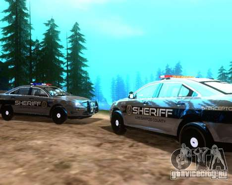 Ford Interceptor Los Santos County Sheriff для GTA San Andreas вид справа