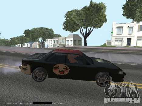 Винилы для Sultan для GTA San Andreas вид сзади слева