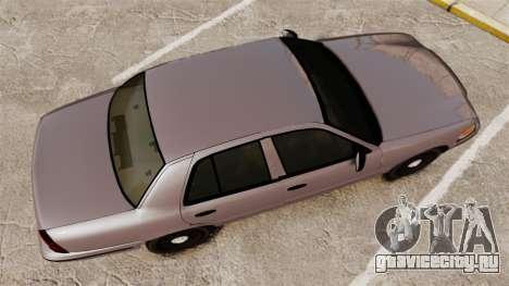 Ford Crown Victoria 2008 LCPD Detective [ELS] для GTA 4 вид справа