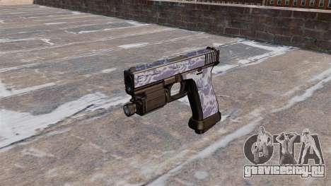 Пистолет Glock 20 Blue Tiger для GTA 4 третий скриншот