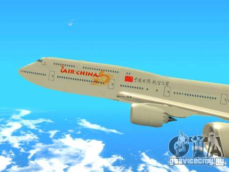 Boeing 747 Air China для GTA San Andreas вид сзади слева
