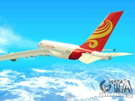 A380-800 Hainan Airlines для GTA San Andreas вид слева