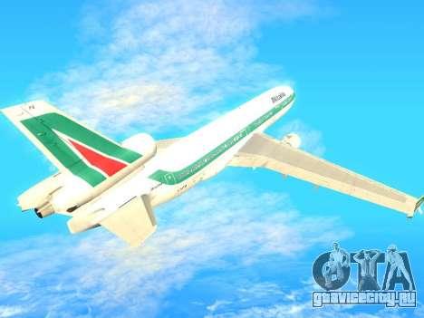 McDonnell Douglas MD-11 Alitalia для GTA San Andreas вид сзади