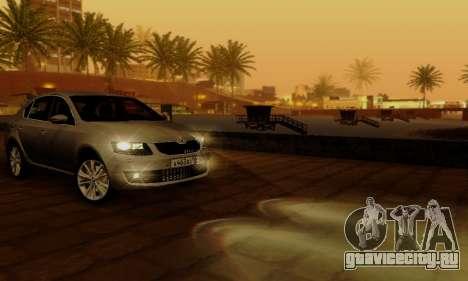 Skoda Octavia A7 для GTA San Andreas салон