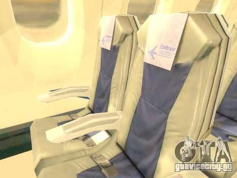 Embraer 175 HOUSE для GTA San Andreas двигатель