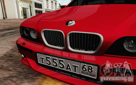 BMW M5 E39 2003 для GTA San Andreas вид изнутри