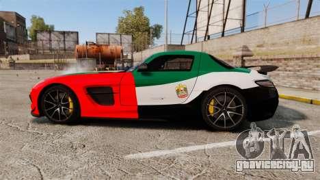 Mercedes-Benz SLS 2014 AMG UAE Theme для GTA 4 вид слева