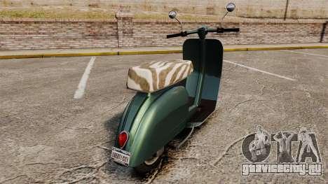 GTA IV TBoGT Pegassi Faggio для GTA 4 вид справа
