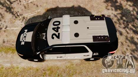 Ford Explorer 2013 LCPD [ELS] Black and Gray для GTA 4 вид справа