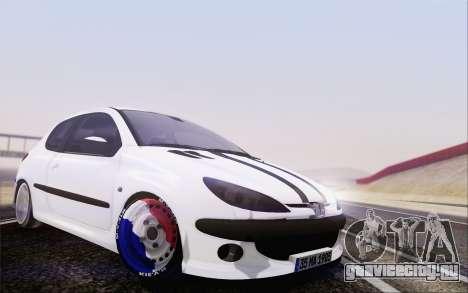 Peugeot 206 Mehmet ALAN для GTA San Andreas