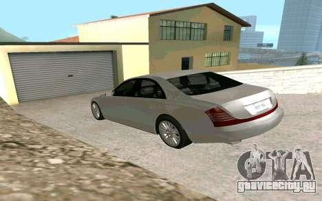 Maybach 57 TT Black Revel для GTA San Andreas вид слева