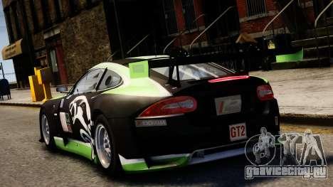 Jaguar XKR GT для GTA 4 вид сзади слева