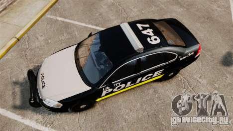 Chevrolet Impala 2008 LCPD [ELS] для GTA 4 вид справа