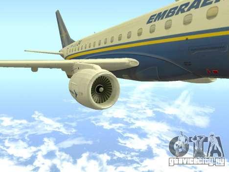 Embraer 175 HOUSE для GTA San Andreas вид справа