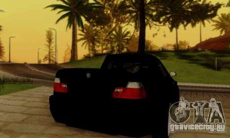 BMW M3 для GTA San Andreas вид изнутри