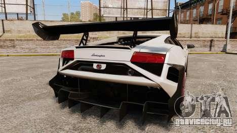 Lamborghini Gallardo LP570-4 Super Trofeo для GTA 4 вид сзади слева