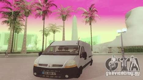 Renault Master для GTA San Andreas вид сзади