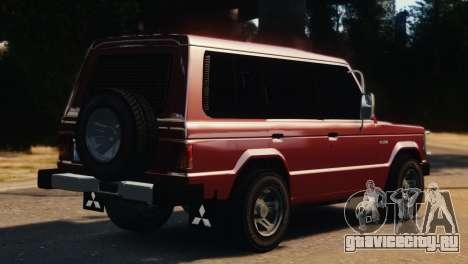 Mitsubishi Pajero I WAGON для GTA 4 вид слева