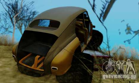 ГАЗ М20 Монстр для GTA San Andreas вид сбоку