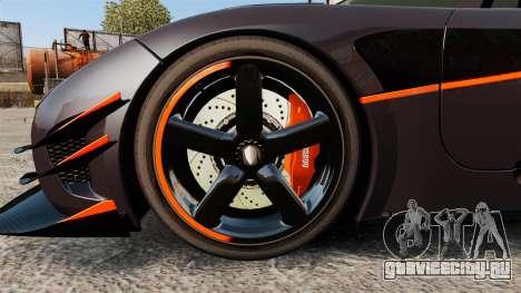 Koenigsegg One:1 для GTA 4 вид сзади