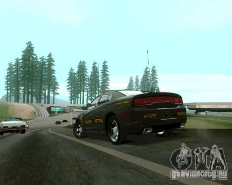 Dodge Charger 2012 SAHP для GTA San Andreas вид слева