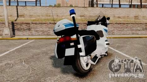 BMW R1150RT Police municipale [ELS] для GTA 4 вид сзади слева