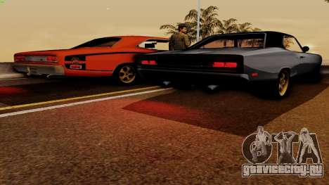 Dodge Coronet RT 1969 440 Six-pack для GTA San Andreas вид сверху