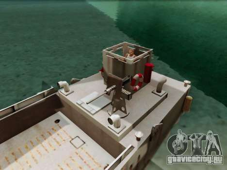 Landing Craft для GTA San Andreas вид сзади