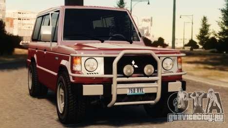 Mitsubishi Pajero I WAGON для GTA 4 вид сзади слева