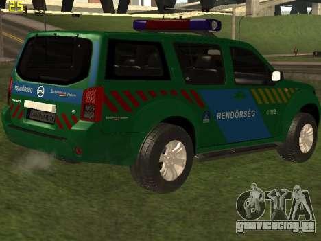 Nissan Pathfinder Police для GTA San Andreas двигатель