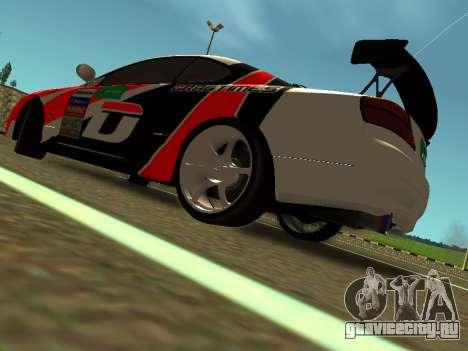 Nissan Silvia S15 Team Dragtimes для GTA San Andreas вид сзади слева