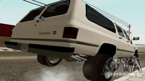 Chevrolet Suburban 2500 1986 для GTA San Andreas вид сзади слева