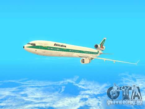 McDonnell Douglas MD-11 Alitalia для GTA San Andreas вид сверху