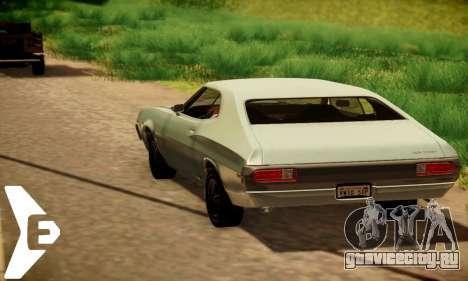 Ford Gran Torino 1972 Года для GTA San Andreas вид сзади