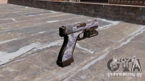 Пистолет Glock 20 Blue Tiger для GTA 4 второй скриншот