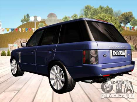 Land Rover Supercharged Stock 2010 V2.0 для GTA San Andreas вид сзади слева