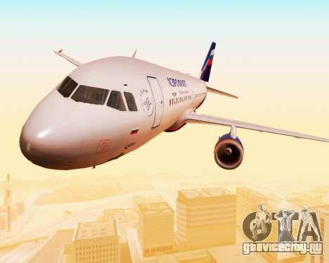 Airbus A320-200 Аэрофлот для GTA San Andreas вид сверху
