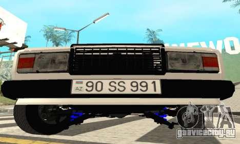 ВАЗ 2107 Avtosh для GTA San Andreas вид слева