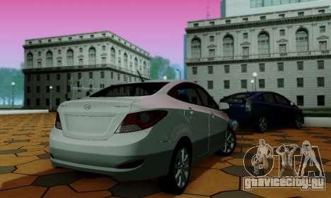 Hyndai Solaris для GTA San Andreas вид сверху