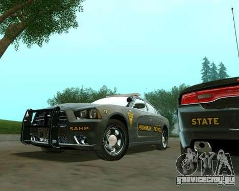 Dodge Charger 2012 SAHP для GTA San Andreas вид справа