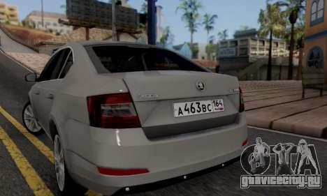 Skoda Octavia A7 для GTA San Andreas вид слева