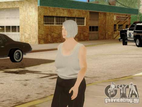 Пожилая женщина для GTA San Andreas шестой скриншот