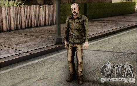 Pete from Walking Dead для GTA San Andreas третий скриншот